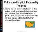 culture and implicit personality theories32