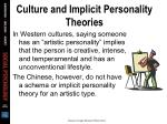 culture and implicit personality theories34