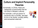 culture and implicit personality theories35