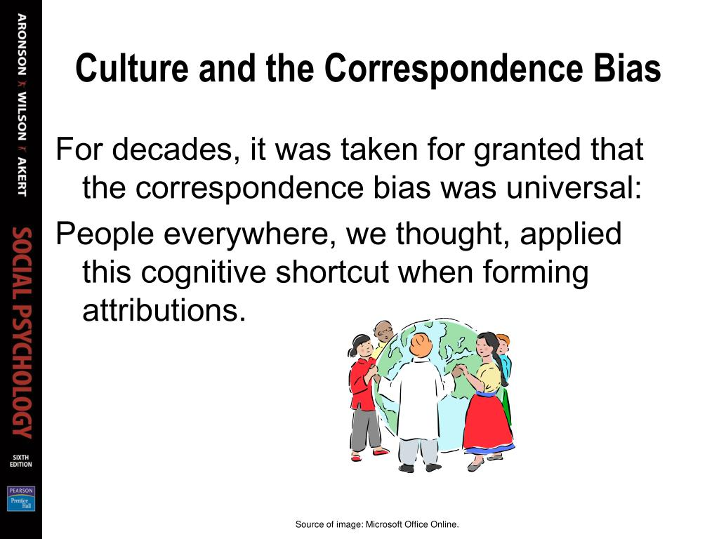 Culture and the Correspondence Bias
