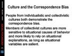 culture and the correspondence bias59