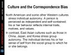 culture and the correspondence bias60