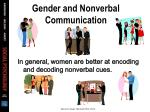 gender and nonverbal communication
