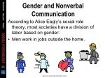 gender and nonverbal communication23