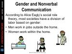 gender and nonverbal communication24