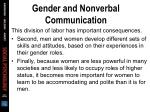 gender and nonverbal communication27