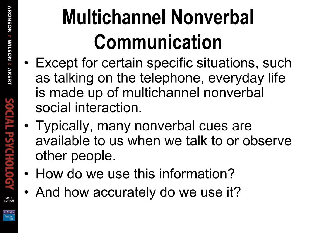 Multichannel Nonverbal Communication