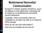 multichannel nonverbal communication19