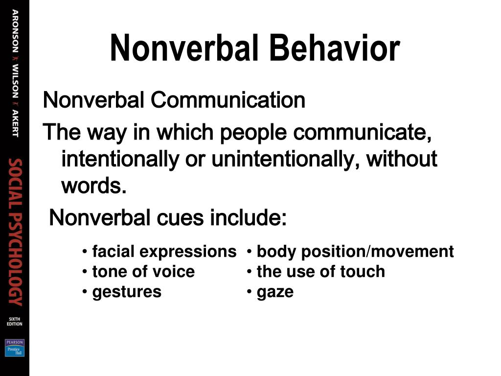 Nonverbal Behavior