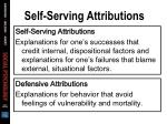 self serving attributions