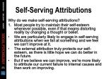 self serving attributions65