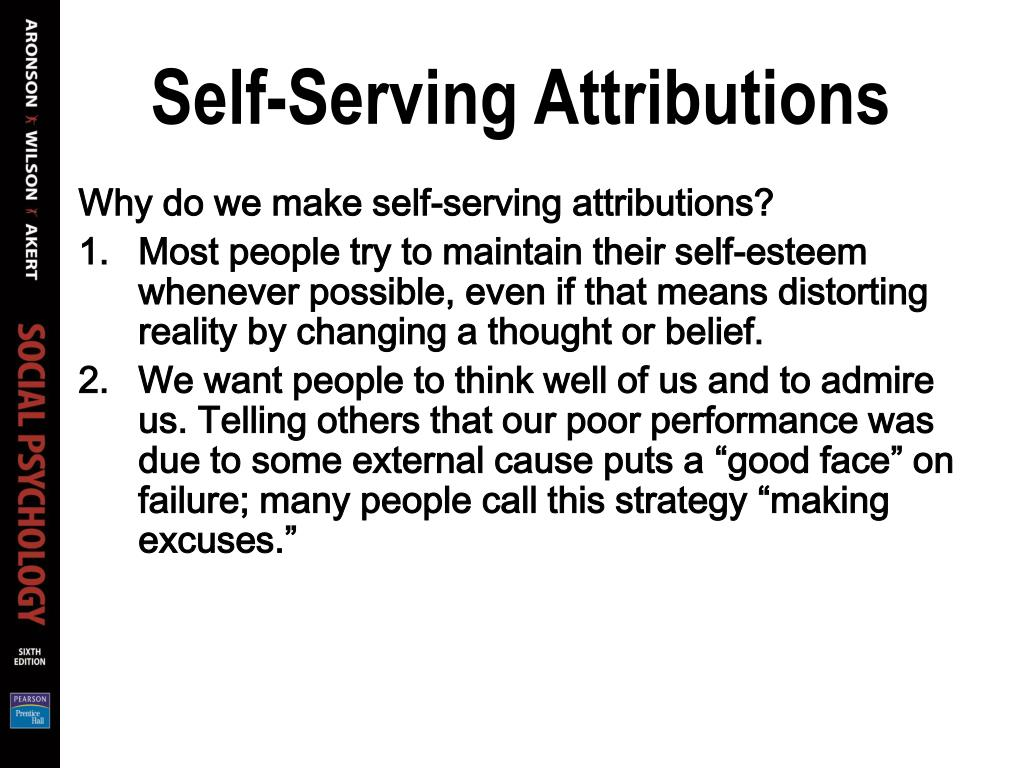 Self-Serving Attributions