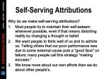 self serving attributions67
