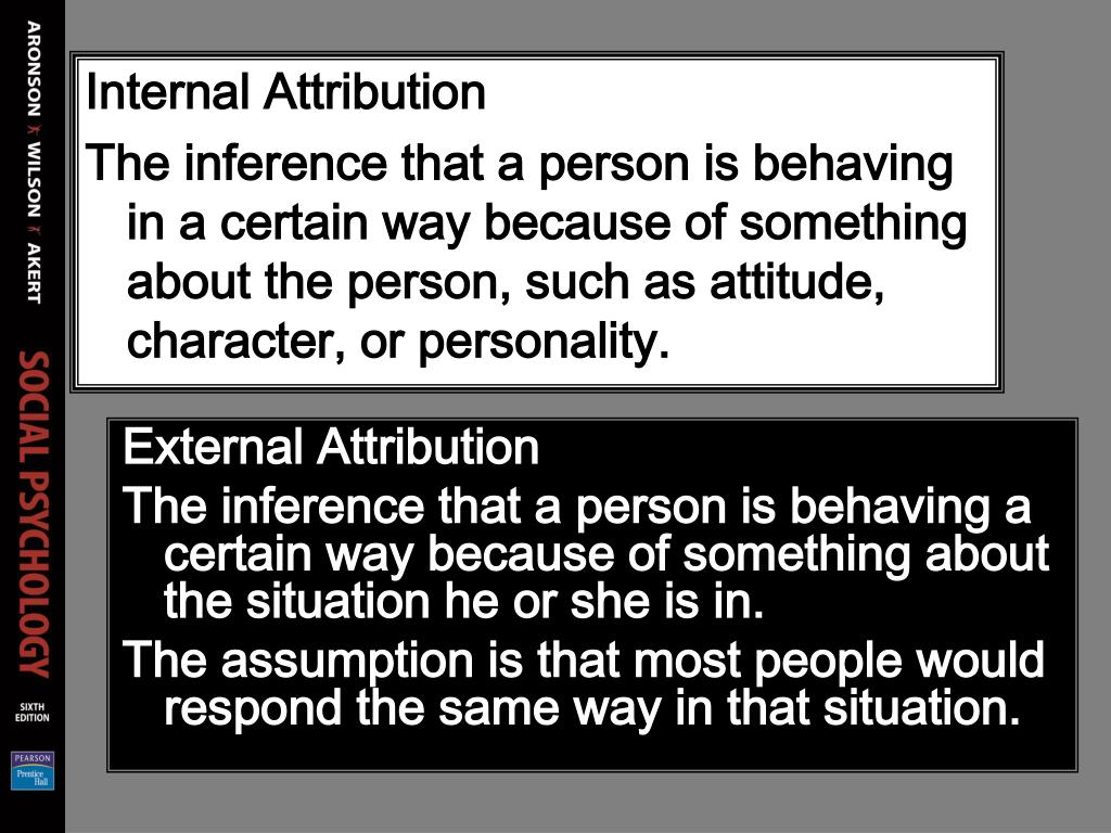 Internal Attribution