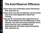 the actor observer difference63