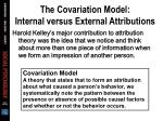 the covariation model internal versus external attributions