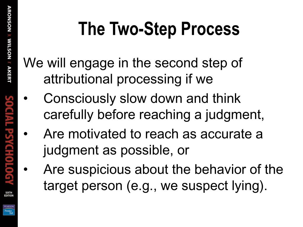 The Two-Step Process