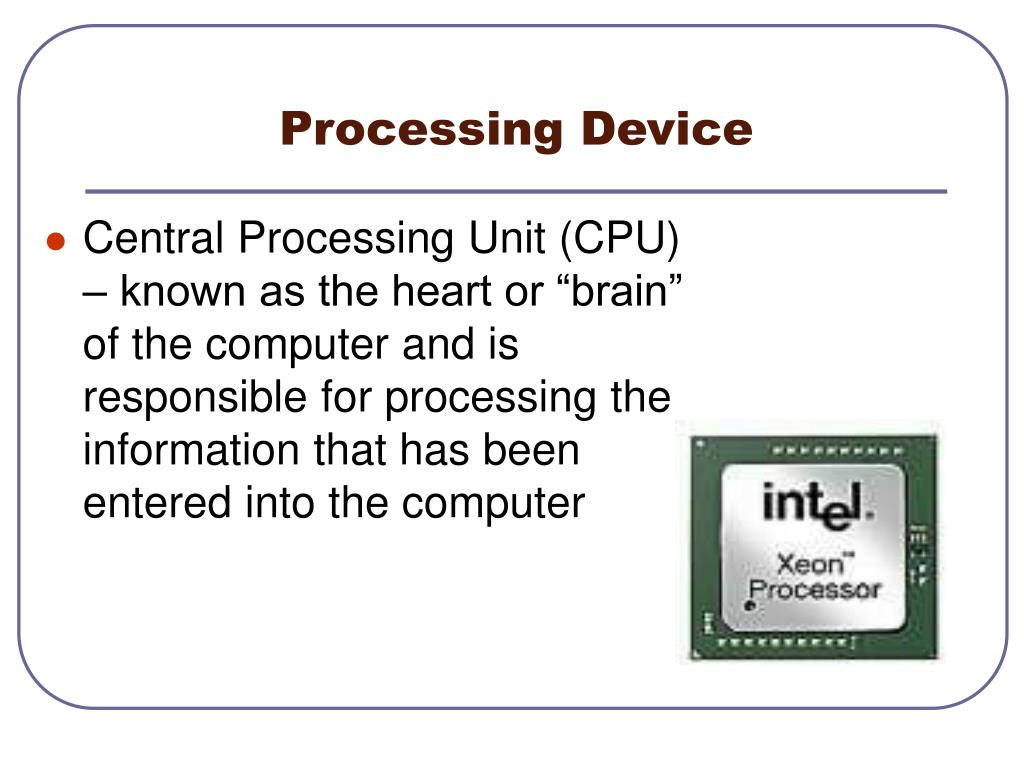 Processing Device