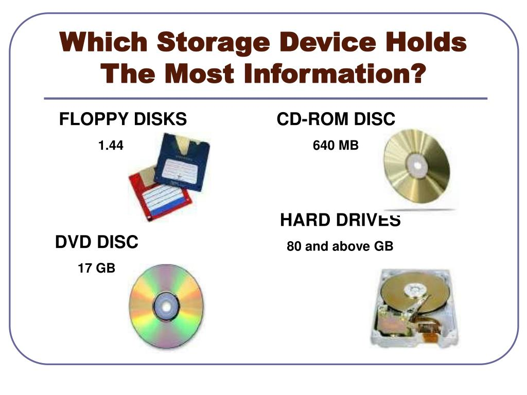 Which Storage Device Holds The Most Information?