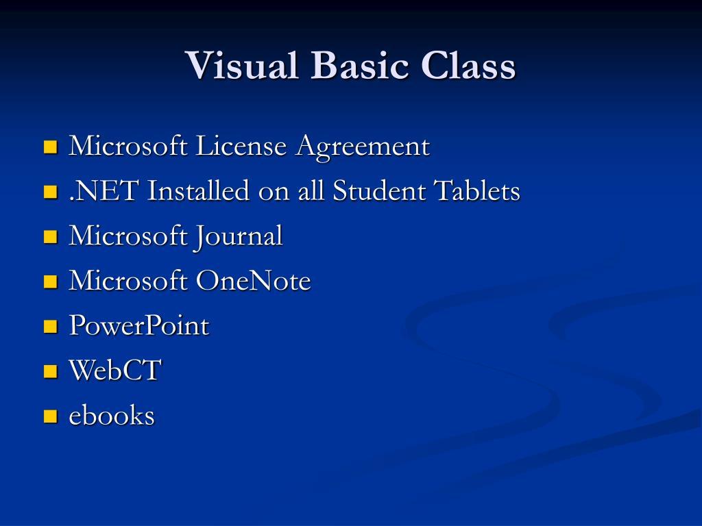 Visual Basic Class