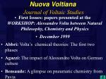 nuova voltiana journal of voltaic studies