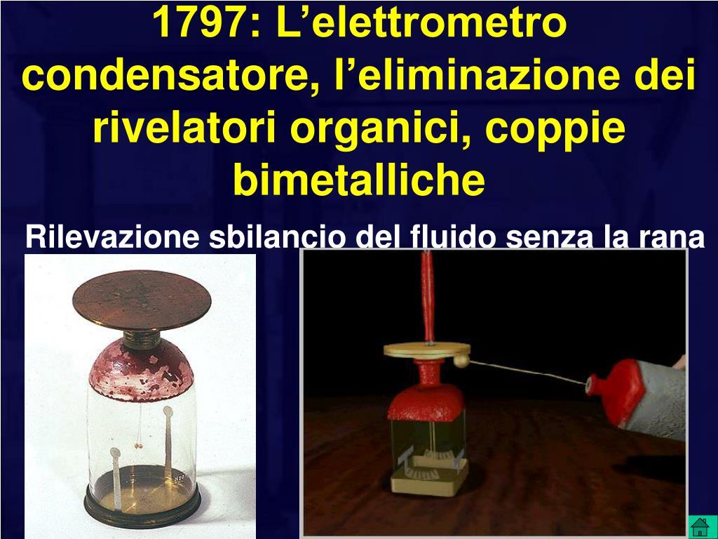 1797: L'elettrometro condensatore,