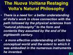 the nuova voltiana restaging volta s natural philosophy