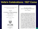 volta s celebrations 1927 como