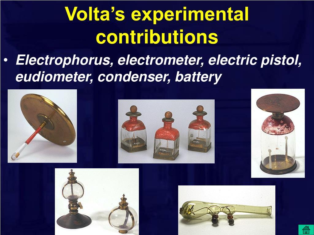 Volta's experimental contributions