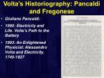 volta s historiography pancaldi and fregonese