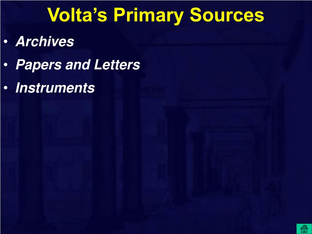Volta's Primary Sources