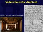volta s sources archives