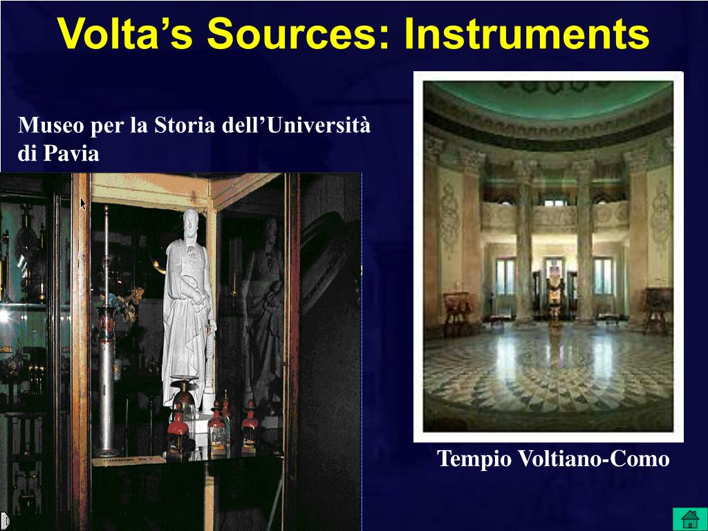 Volta's Sources: Instruments