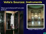 volta s sources instruments