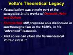 volta s theoretical legacy22
