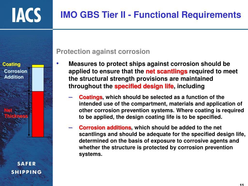 IMO GBS Tier II - Functional Requirements