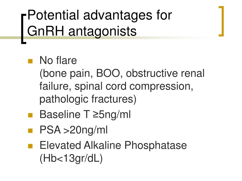 Potential advantages for GnRH antagonists