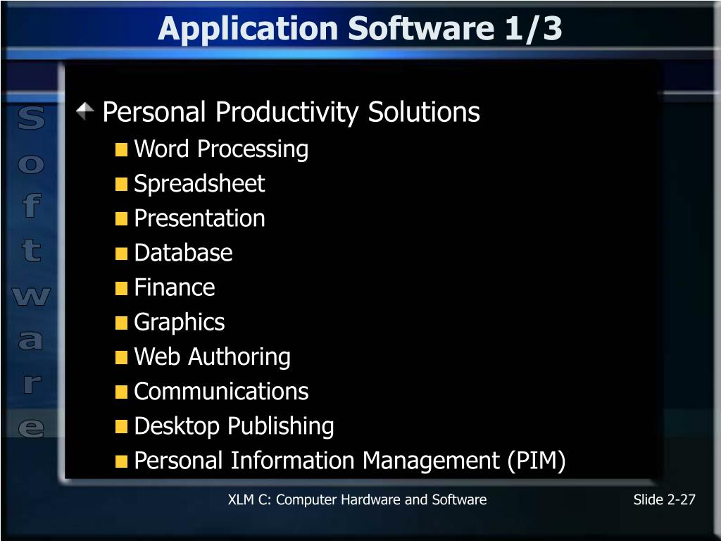Application Software 1/3