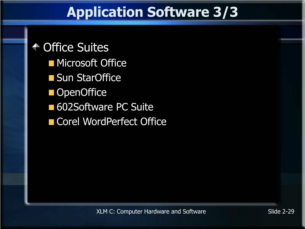 Application Software 3/3