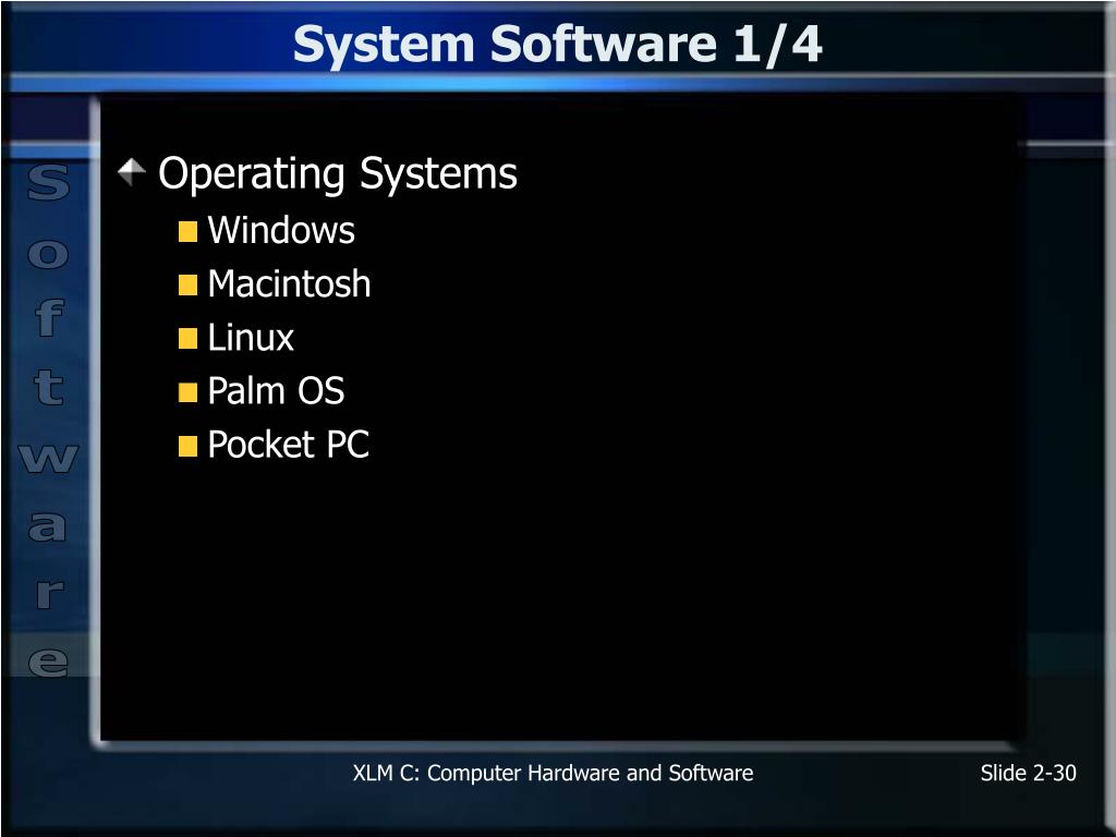 System Software 1/4