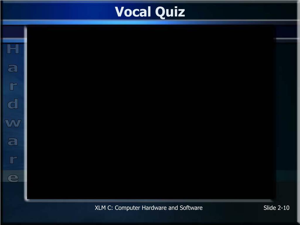 Vocal Quiz