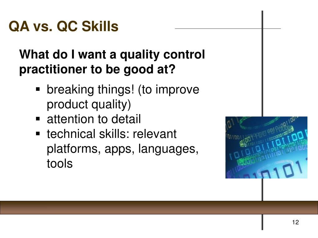 QA vs. QC Skills