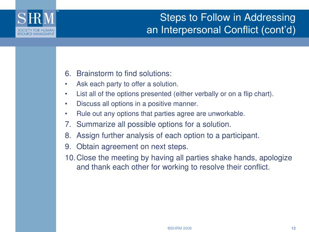 Steps to Follow in Addressing