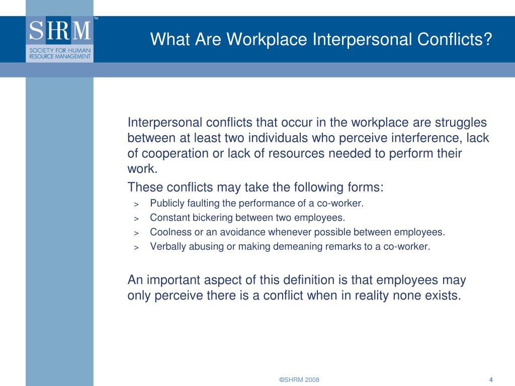 What Are Workplace Interpersonal Conflicts?