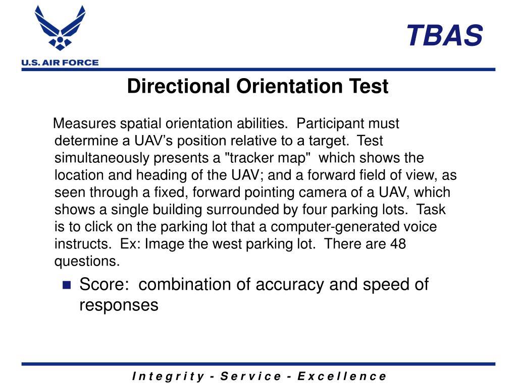 Directional Orientation Test