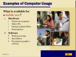 examples of computer usage43