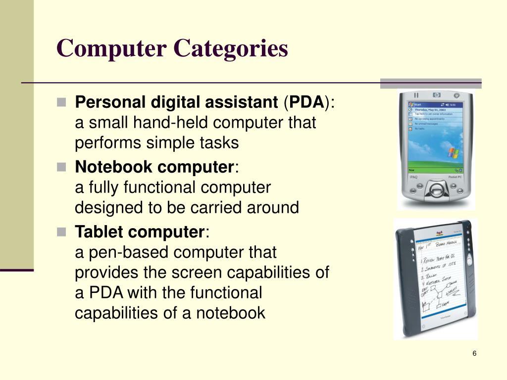 Computer Categories