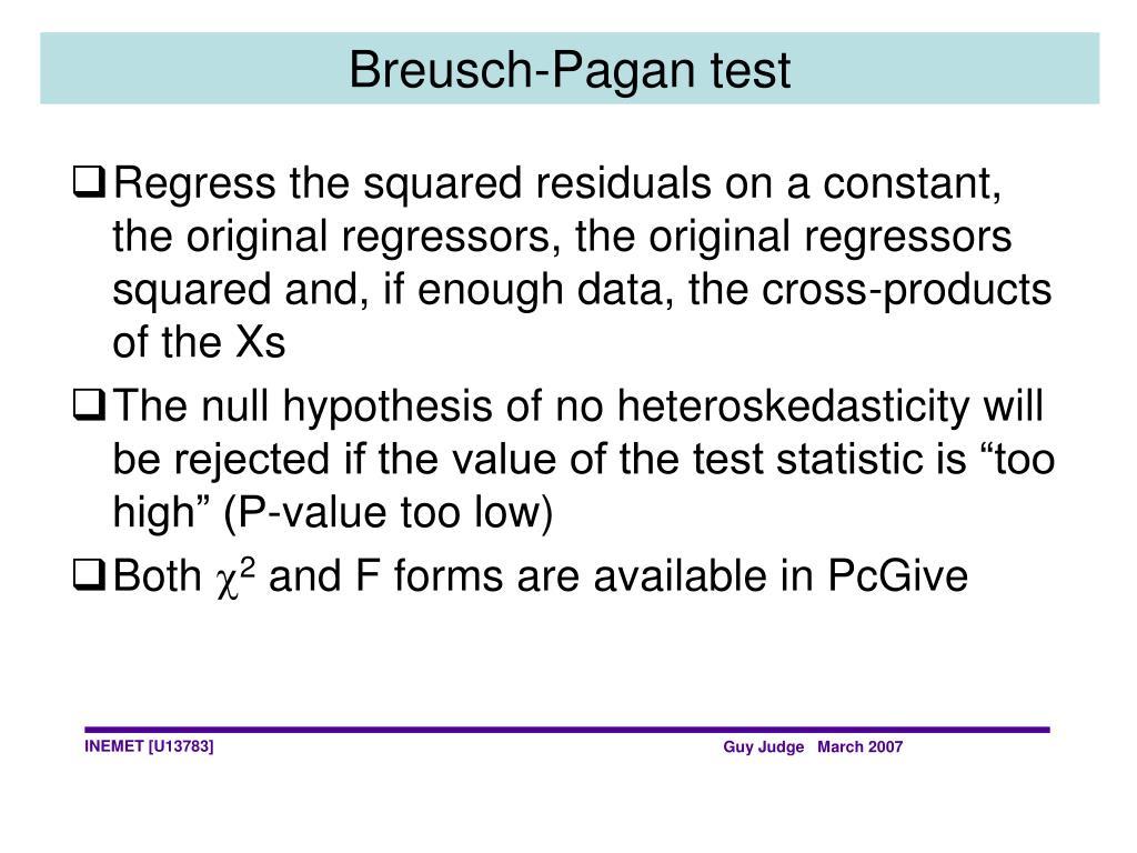 Breusch-Pagan test