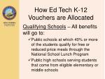 how ed tech k 12 vouchers are allocated