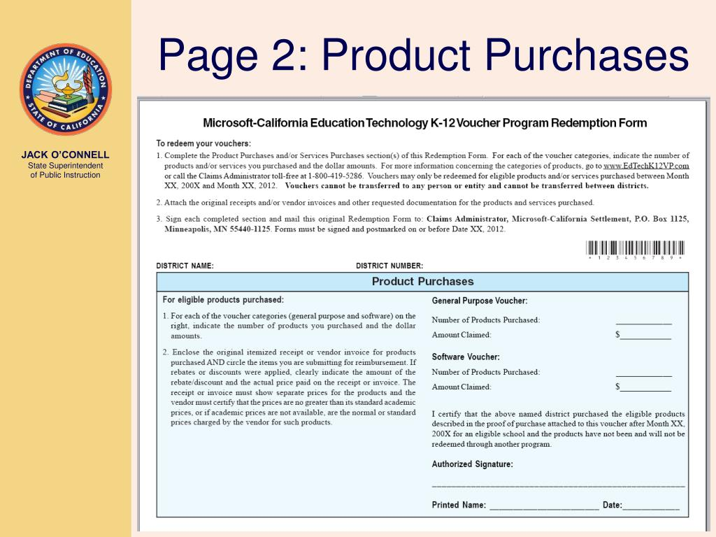 Page 2: Product Purchases